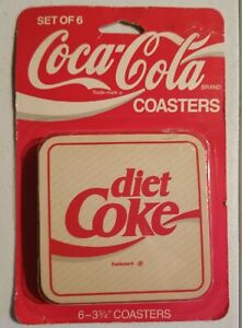 Vintage Coca Cola Coasters Diet Coke New In Package coaster Set of 6
