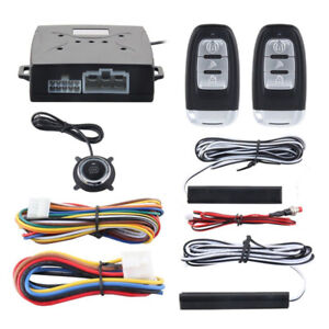 Universal Truck Alarm System Passive Keyless Entry Push Remote Engine Start Stop