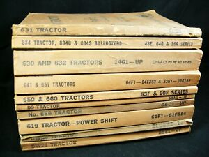 Cat Caterpillar Tractor Parts Manual Lot 10 Book List Catalog