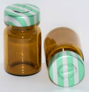 Usp 5 Ml Amber Sterile Vial With Green Stripe Center Tear Seal Any Qty