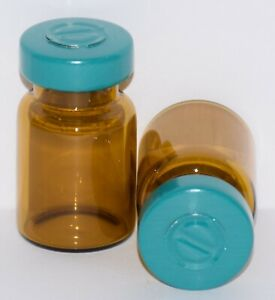 Usp 5 Ml Amber Sterile Vial With Turquoise Center Tear Seal Any Qty