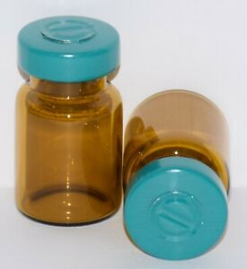 Usp 5 Ml Amber Sterile Vial With Turquoise Center Tear Seal 1 Pack