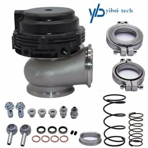 New Wastegate Mvs Black For Tial 44mm With V Band And Flanges Mv S