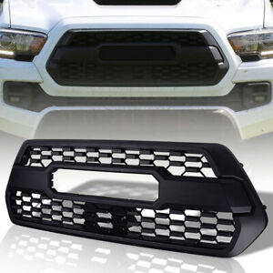 Tacoma Grill Front Bumper Grille W Letters For 2016 2019 Trd Pro Matte Black
