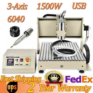 3axis Cnc 6040 Router Carving Machine 1 5kw Diy Usb Woodworking Milling Engraver