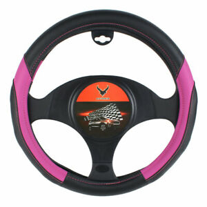 15 Car Steering Wheel Cover Pu Leather Pink Protection Universal Fit