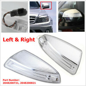 Car Led Side Lamp Reversing Mirror Turn Signal Light Fit For Mercedes Benz W204