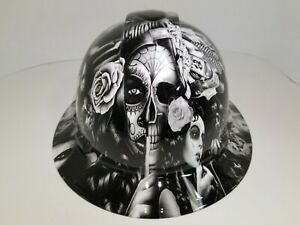 Full Brim Hard Hat Custom Hydro Dipped In No Love All Hustle Hot White Hot New