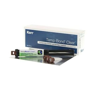 Temp bond Clear Crown And Bridge Cement Automix Syringe 5ml By Kerr Fresh