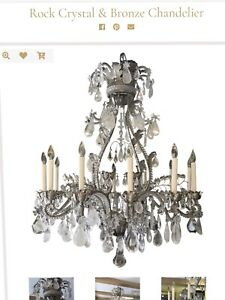 Huge Antique Rock Crystal French Chandelier