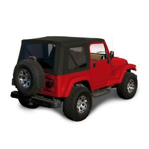 1997 2006 Jeep Wrangler Tj Soft Top Replacement Tinted Windows Black Sailcloth