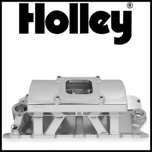 Holley Sniper Fabricated Intake Manifold Small Block Chevy Sbc 4150 Silver