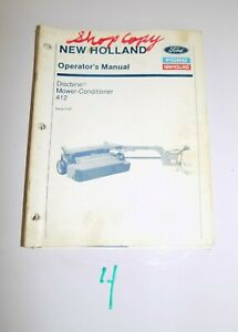 Ford New Holland 412 Discbine Operator s Manual 42041210 2 92