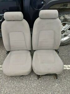 Ford Mustang Front Seat Set Cloth Gray Cloth Driver Power