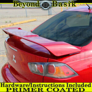 2008 2017 Mitsubishi Lancer 4dr Factory Oe Style Spoiler Wing Trunk Fin Primer