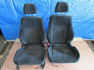 Jdm 97 01 Honda Prelude Bb6 Oem Cloth Left Right Front Seats Pair H22a