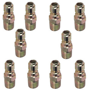 Pressure Washer Hose Quick Connect Coupler Plug 3 8 Mpt 10 Pack
