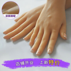Lifelike Female Left right Hand Fake Tpe Silicone Finger Jewelry Display Model