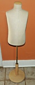 Fusion Specialties Cloth Covered Mannequin Form Bust Adj Stand Free Ship Child