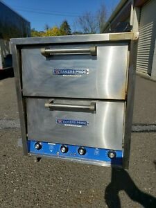 Bakers Pride Model P 44 Double Stack Pizza Oven 208v Single Phase