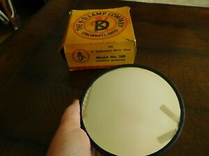 Vintage Round 5 Mirror Head Made In Usa Old School Truck Nors 1920 1930 1940