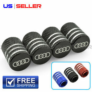Valve Stem Caps Wheel Tire For Audi Laser Etched Aluminum Vl01 Vl03