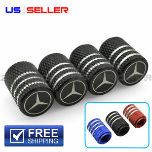 Valve Stem Caps Wheel Tire For Mercedes Benz Laser Etched Aluminum Vl28 Vl30