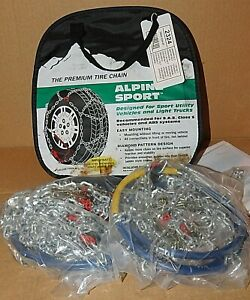 Alpine Sport Tire Snow Chains Stock 2324 Never Used