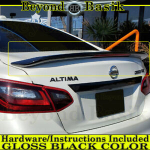 For 2016 2017 2018 Nissan Altima Wing Factory Style Spoiler W led Gloss Black