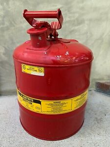Justrite 5 Gallon Safety Gas Can