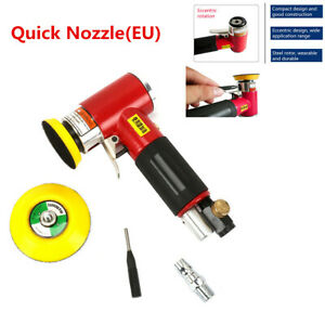 2 3 Mini Air Sander Kit Pneumatic Orbital Sander Car Polisher quick Nozzle eu
