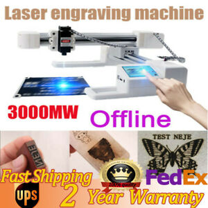 3000mw Desktop Laser Engraving Machine Wood Plastic Mini Diy Laser Engraver Us
