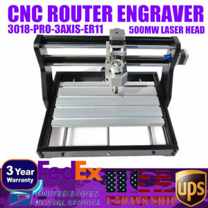 Cnc 3018 Router Engraving 500mw Diy Laser Module Wood Milling Cutting Machine Us
