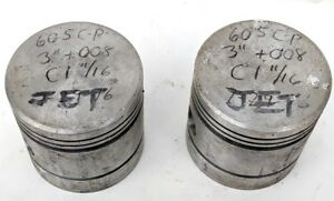 Vintage Set Of 2 Hudson Pistons Antique Car Parts