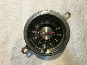52 Buick Original Working Dash Clock Serviced Tested And Nice