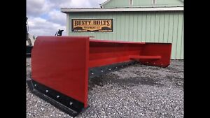 New 10 Foot Snow Pusher Box Blade For Skidsteer Loader Quick Attach Usa Made