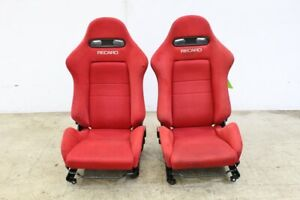 Jdm Acura Rsx Type R Dc5 Oem Red Recaro Seats Sr 4 With Rails Ek Eg Integra