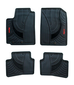 Floor Mats For Cars Set Of All Weather Oem Kia Rio 2018 2020 Red Letters