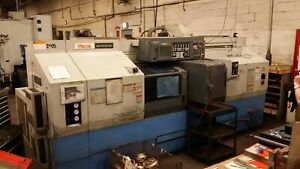 Used 1999 Mazak Multiplex 430 Twin Spindle Cnc Turning Center Lathe 10 Chuck