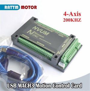 Nvum 4 Axis Usb Mach3 Board Cnc Motion Controller Card For Stepper servo Motor