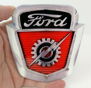 1954 1956 Ford F 100 F100 Truck Heavy Duty Metal Sign 4 X 4 Non Oe Badge
