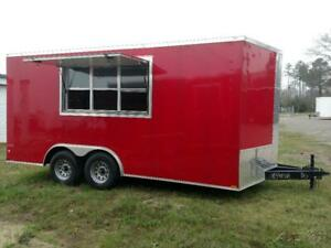 Wow Cargo Trailers Red 8 5x16 Concession Trailer