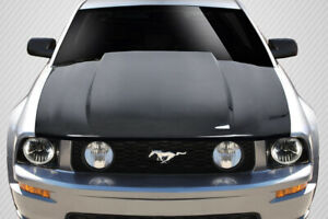 Fits 2005 2009 Ford Mustang Carbon Fiber 2 5 Cowl Hood 1 piece 115533