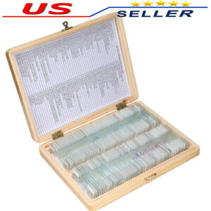 100pcs Prepared Glass Microscope Slides Educational Specimen For School And Lab