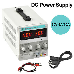 5a 10a Digital Dc Power Supply Variable Adjustable Lab Bench Test Equipment Tool