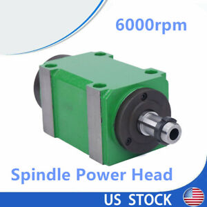 6000rpm Morse B30 Boring Milling Spindle Power Head Unit Bearings Drilling