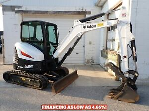 2019 Bobcat E35i Mini Excavator Cab Heat ac 2 Speed Hyd Thumb Hyd X change