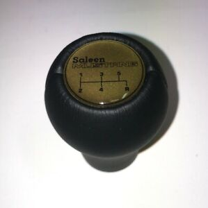 Gear Shift Knob Fits For Ford Mustang Saleen 5 Speed 1983 2004 Black Gold Label