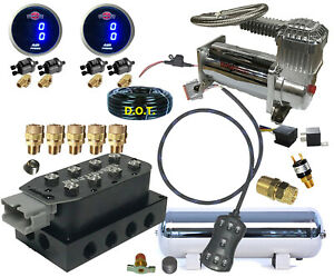 Air Ride Suspension Manifold Valve 3 8 7switch Digital Compressor Tank Xzx