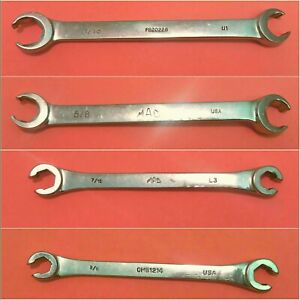 Mac Tools Usa 3 8 X7 16 And 5 8 X11 16 Sae Double End Flare Nut Wrench Set